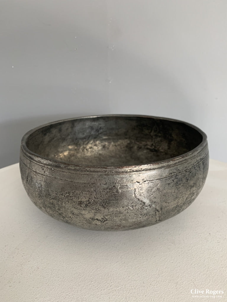 Turkish Antique Heavy Bath Bowl Tinned Copper 18 Cent Or Circa 1700 Bowl