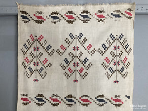 Turkish Ottoman Provinces Embroidered Towel Late 19Th Cent Embroidery