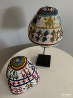 Load image into Gallery viewer, Two Afghan Patan Beaded Caps Possibly Kandahar (2) Mid 20Th Cent Hat