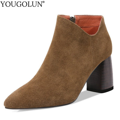 Suede Ankle Boots - Go Love Shoes