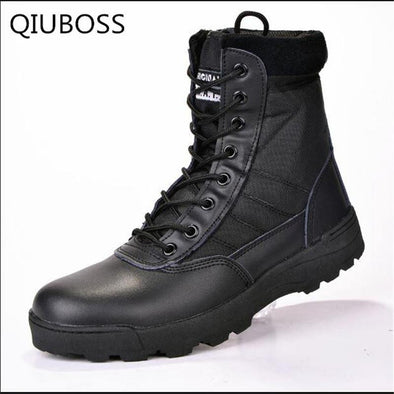 Leather Combat boots for men - Go Love Shoes