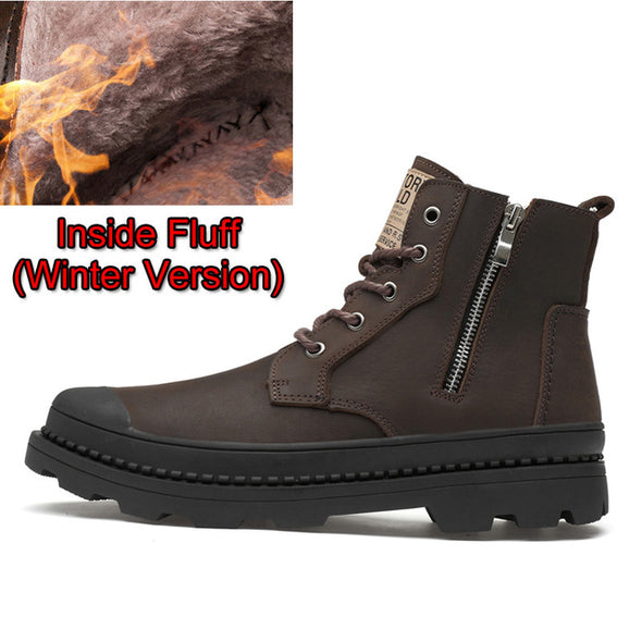 Work Safety Shoes Men Shoes, Motorcycle Genuine Leather - Go Love Shoes