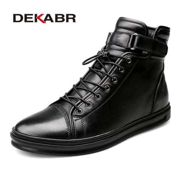 Winter high top fur Boots for men - Go Love Shoes