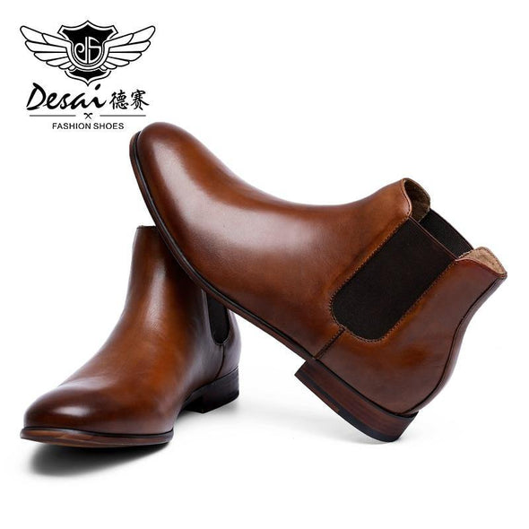 Chelsea Leather Boots - Go Love Shoes