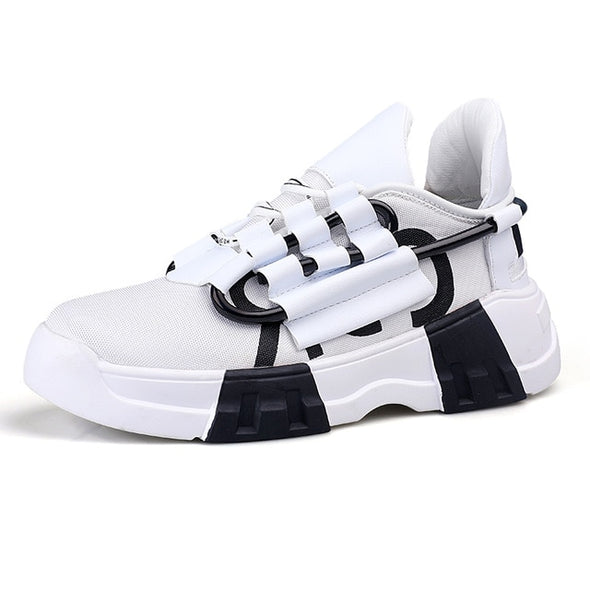 Men Casual Shoes lace-Up Breather Mesh - Go Love Shoes