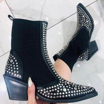 Winter Sexy Rivet Boots for Women - Go Love Shoes