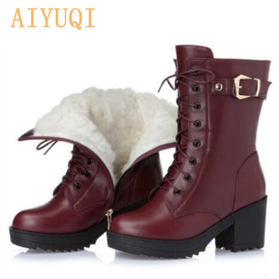Warm leather boots for women - Go Love Shoes
