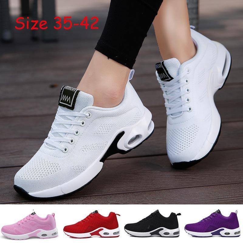 Women Sport Shoes Lightweight Running Shoes Lace Up Jogging Sneakers Plus Size