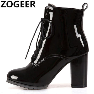 Ankle boots patent leather - Go Love Shoes