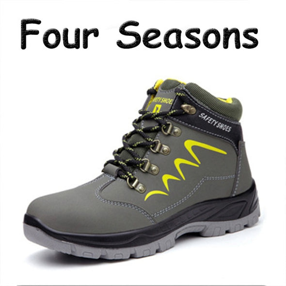 Men Safety Work Boots Steel Toe Waterproof - Go Love Shoes