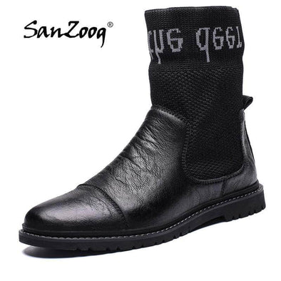 Winter Leather Ankle boot for Men - Go Love Shoes