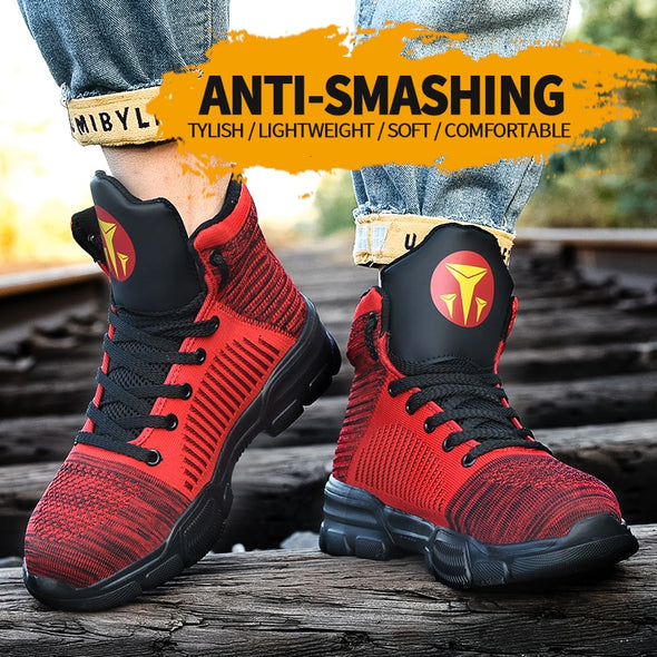 Safety Shoes Boots with Steel Toe - Go Love Shoes