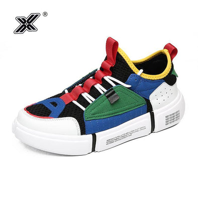 Korean Rainbow Breathable Casual Men Lightweight Shoes - Go Love Shoes