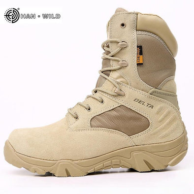 Military Waterproof Leather boots - Go Love Shoes