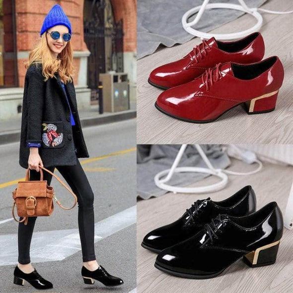 Women Work Leather Shoes - Go Love Shoes