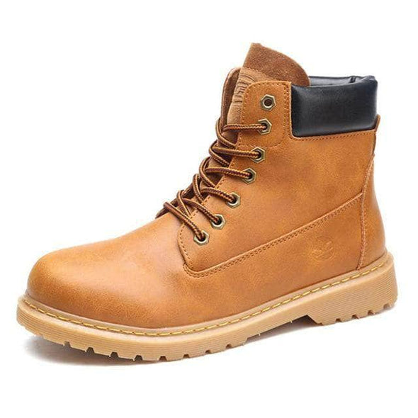 Work Boots Round Toe Leather for Men & Women - Go Love Shoes
