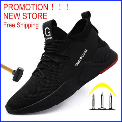 Work Safety Boot Men Steel Toe Safety Shoes Puncture-Proof Outdoor - Go Love Shoes