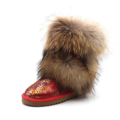 Snow fur Boots for women - Go Love Shoes