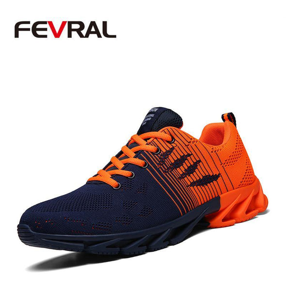 Comfortable Men Shoes Lace-up Sneakers Breathable - Go Love Shoes