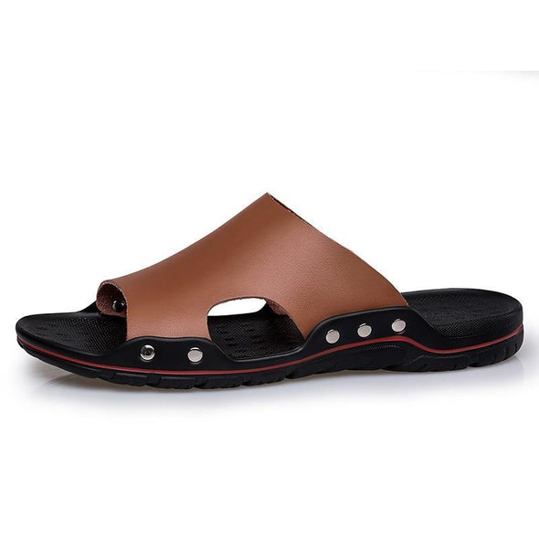 Leather Slippers for Men - Go Love Shoes