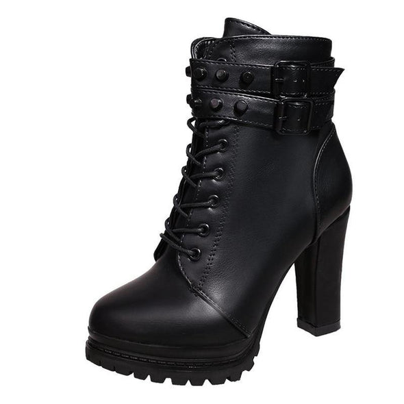 Ankle Boots Round Toe - Go Love Shoes