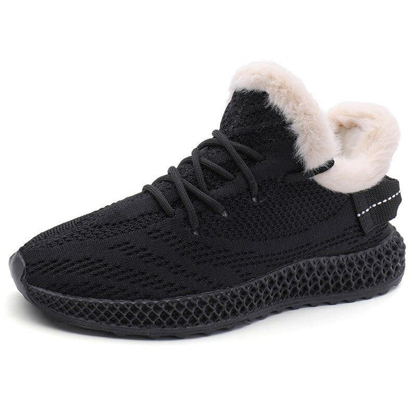 Vulcanized Mesh Knitted Shoes Lace-Up - Go Love Shoes
