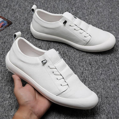 Genuine Leather Shoes Men Sneakers Casual Footwear - Go Love Shoes