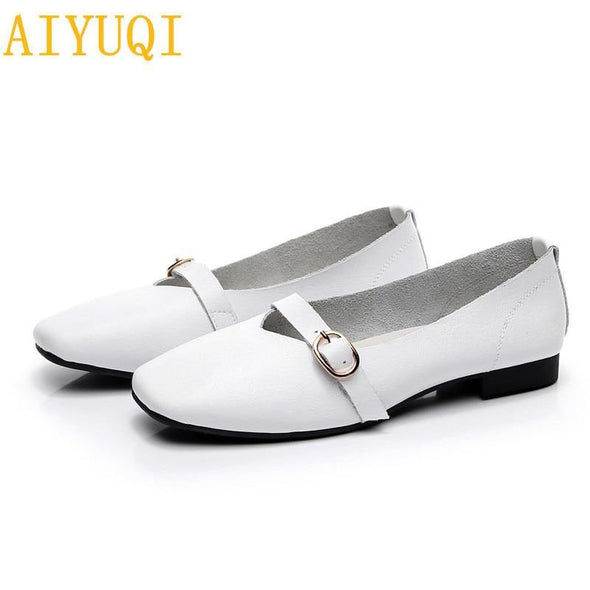 Genuine Leather flat Shoes for women - Go Love Shoes
