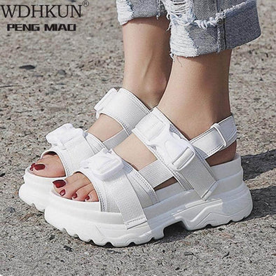 Women Buckle Design Sandals - Go Love Shoes