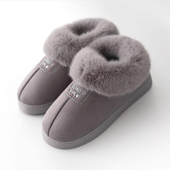 Warm Woman Slippers, Shoes Soft Plush - Go Love Shoes