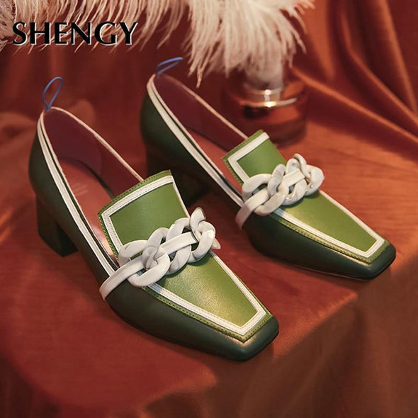 Women summer high heels square toe - Go Love Shoes