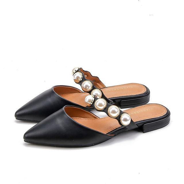 Spiked Flat-soled Slippers Female Summer Retro-style Slippers - Go Love Shoes