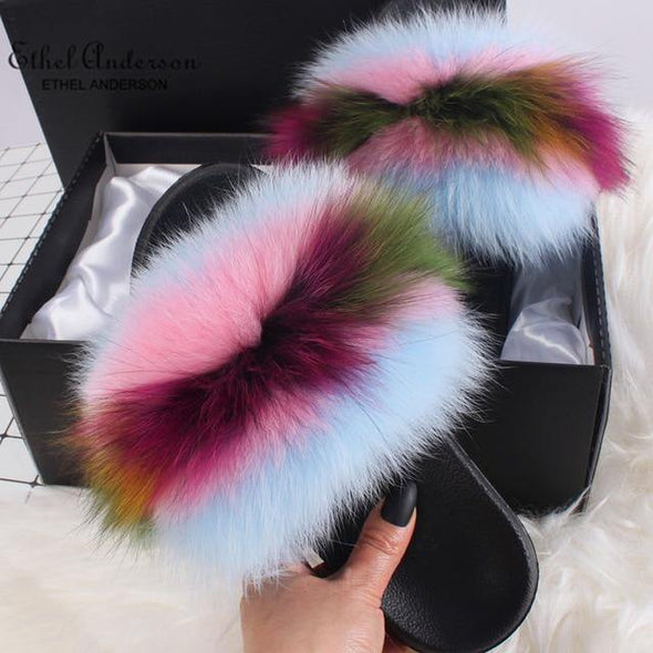 Colorful Woman Slippers - Go Love Shoes