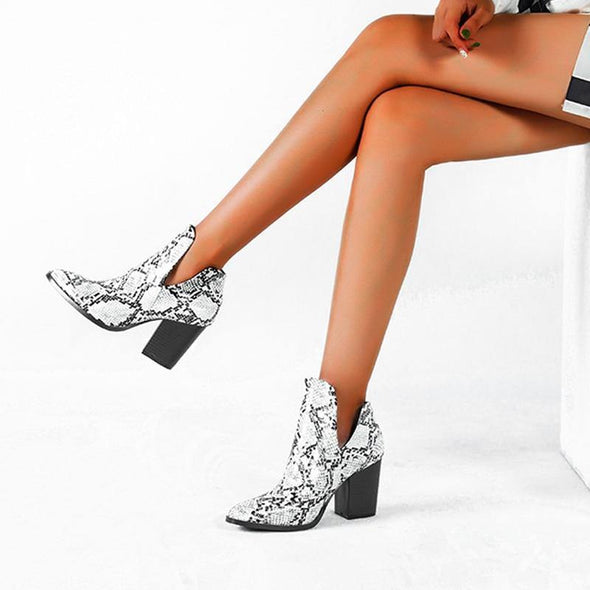 High Heels slip on Cowgirl Booties - Go Love Shoes