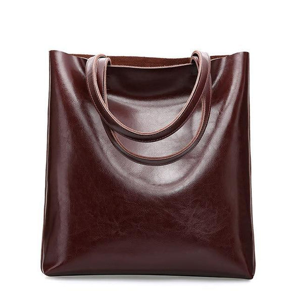 Vintage Real Genuine Leather Handbags - Go Love Shoes