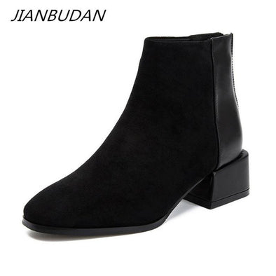 Suede casual Chelsea boots for women - Go Love Shoes