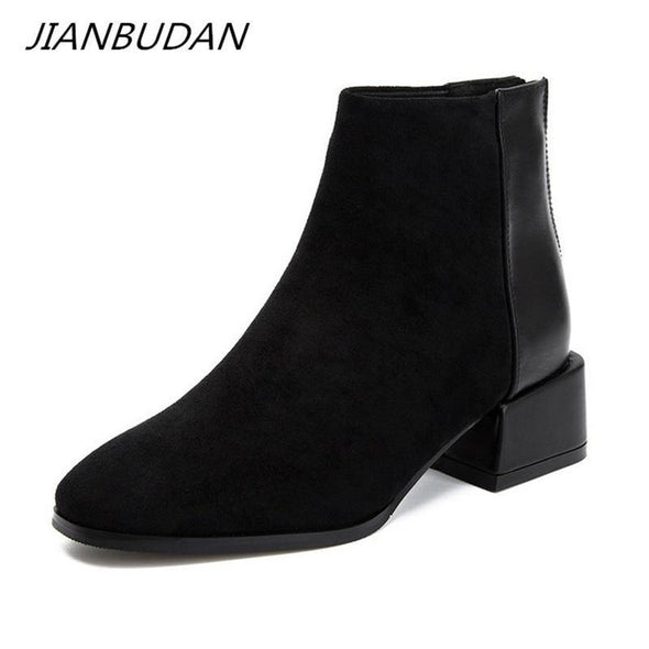 Women Suede casual Chelsea boots - Go Love Shoes
