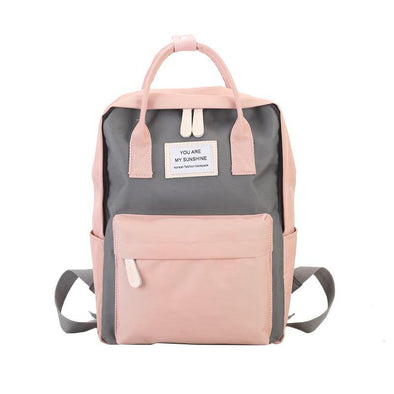 Canvas Backpacks Candy Color Waterproof School Bags - Go Love Shoes