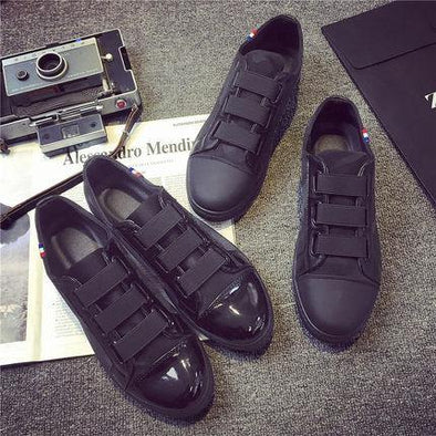 Casual Black Canvas Shoes breathable - Go Love Shoes