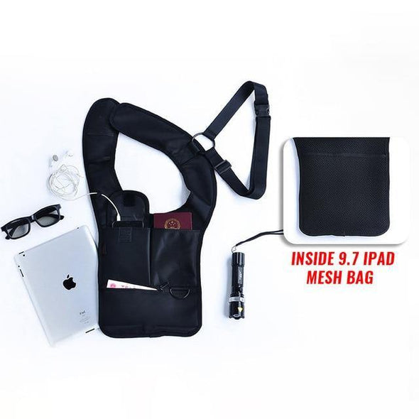 "Tactical Sling Single Armpit Bags Fit 9.7"" iPad Purse Holster - Go Love Shoes"