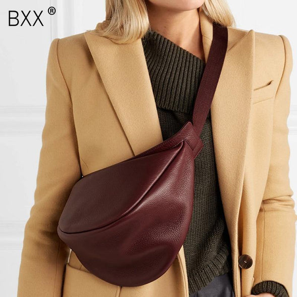 Leather Chest Bag for women - Go Love Shoes