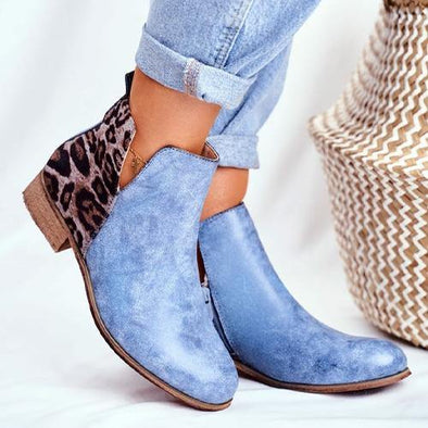 Vintage Leopard Ankle Boots-US - Go Love Shoes