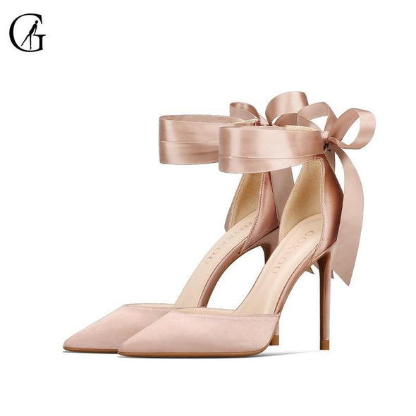 Women Pumps Satin D'orsay-USA - Go Love Shoes