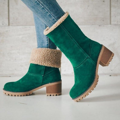 Suede Snow Boots- US - Go Love Shoes