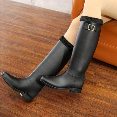 Waterproof high Tube boots for women - Go Love Shoes