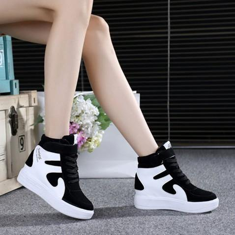 Leather High Top  color Shoes women - Go Love Shoes