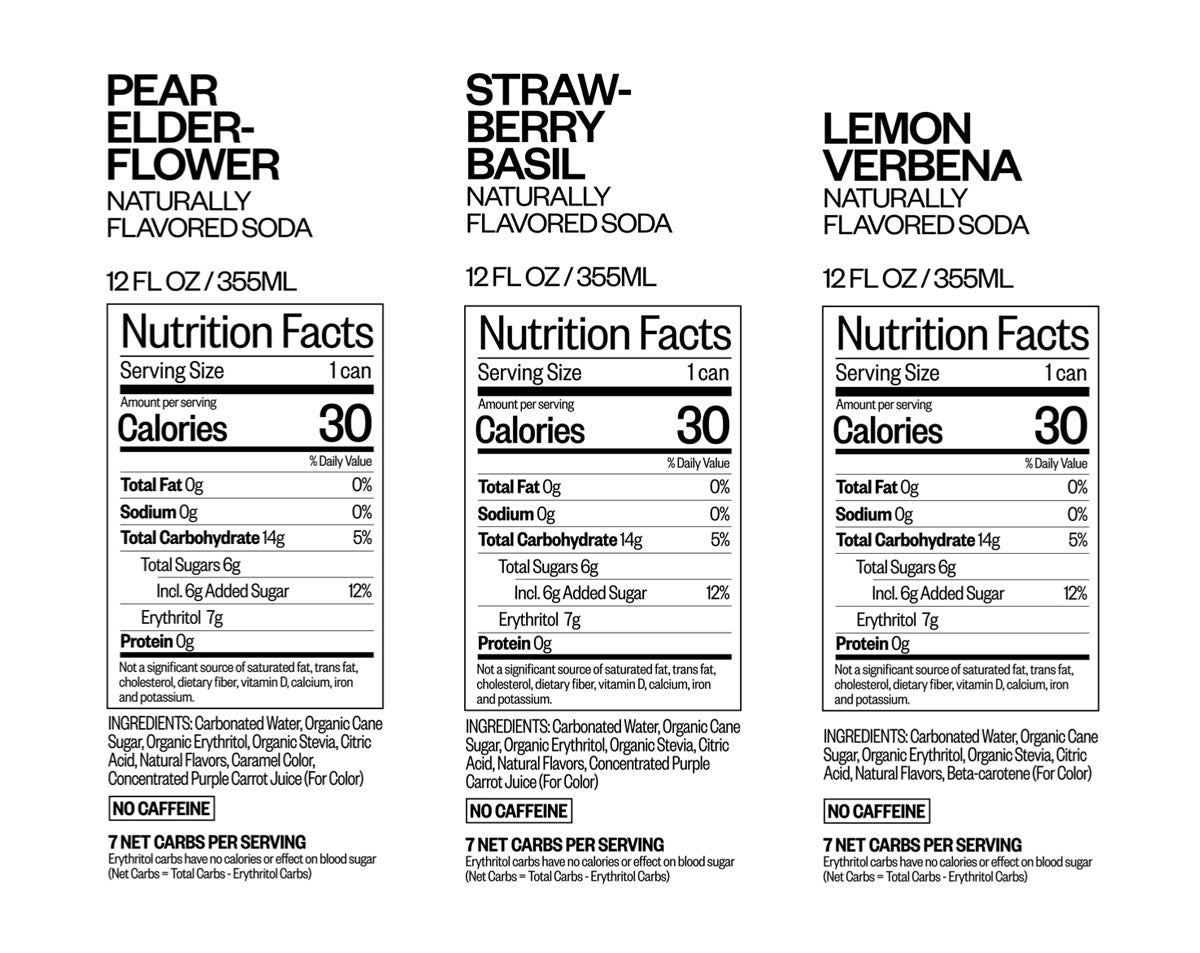 The Finer Things Club nutritional information
