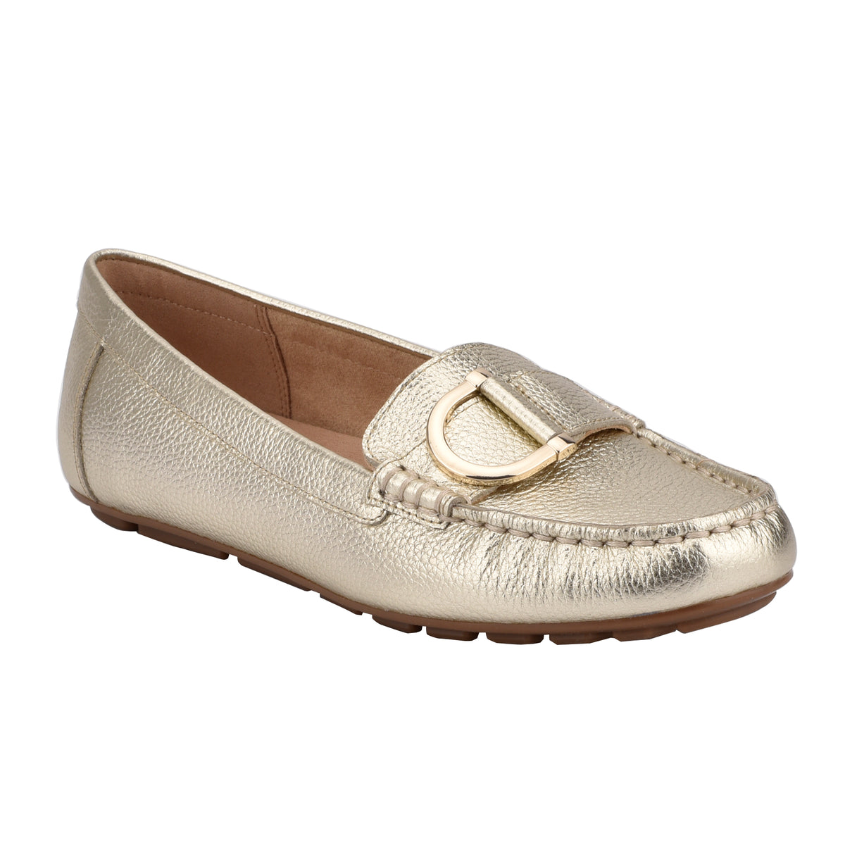 Mink Flat Slip On Loafer