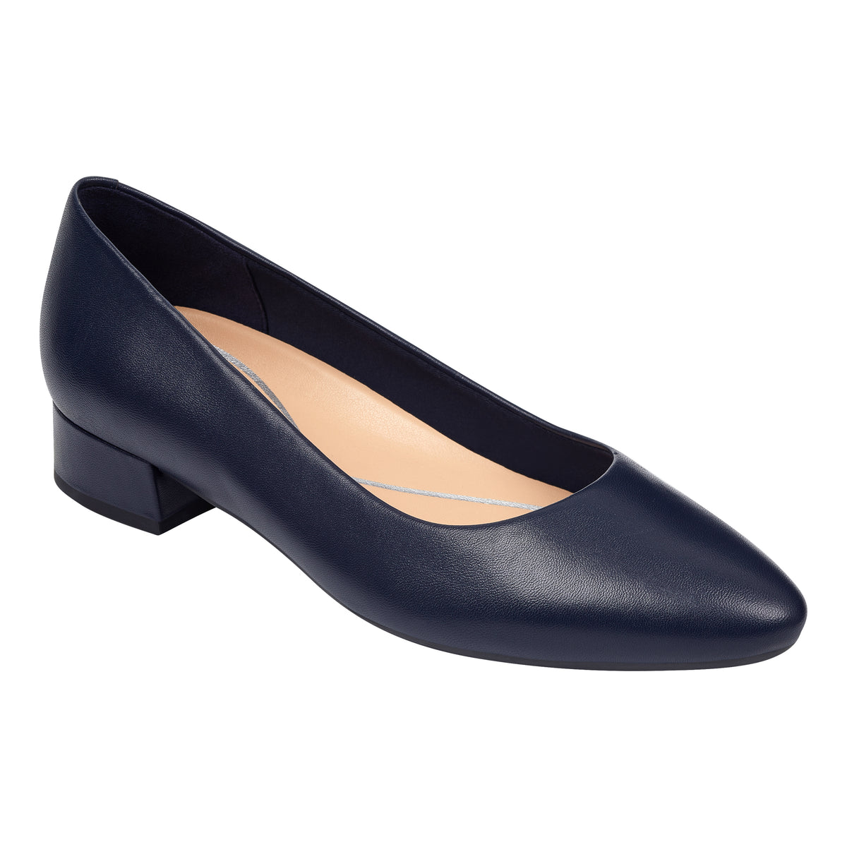 Caldise Leather Low Heel Dress Shoes