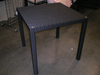 Square Black Wicker Glass Top